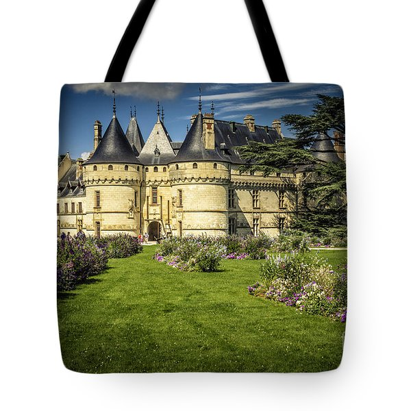 Tote Bag featuring the photograph Castle Chaumont With Garden by Heiko Koehrer-Wagner