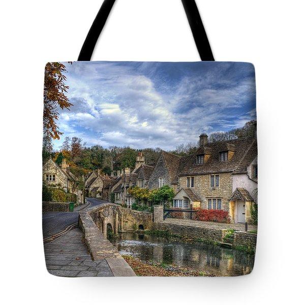 Castle Combe England Tote Bag by Ann Garrett