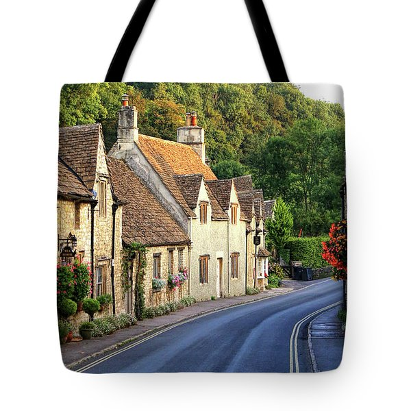 Tote Bag featuring the photograph Castle Combe High Street by Michael Hope