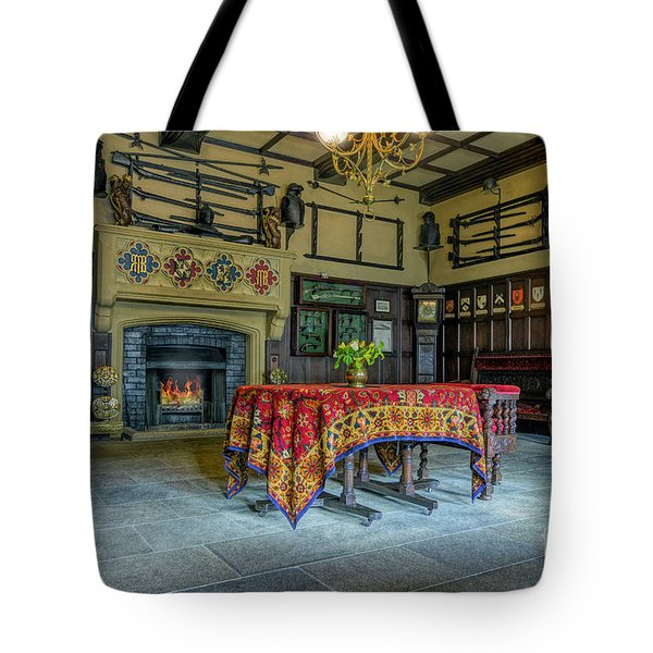 Tote Bag featuring the photograph Castle Dining Room by Ian Mitchell