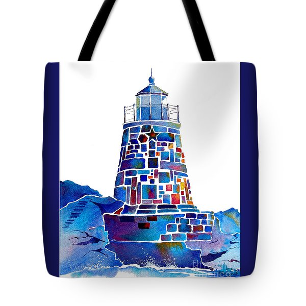 Castle Hill Newport Lighthouse Tote Bag