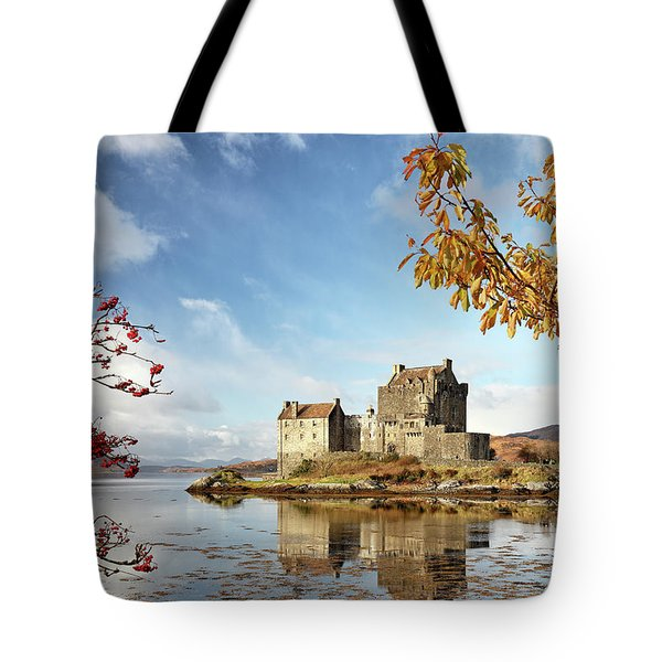 Castle In Autumn Tote Bag