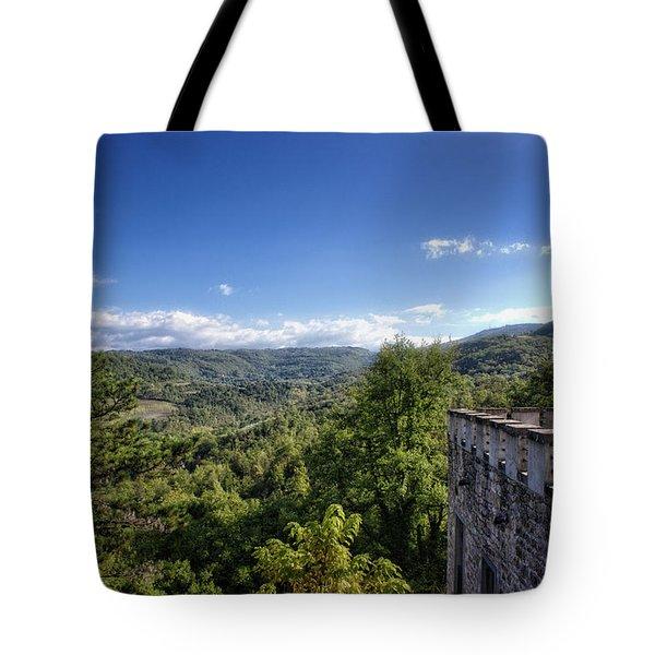 Castle In Chianti, Italy Tote Bag