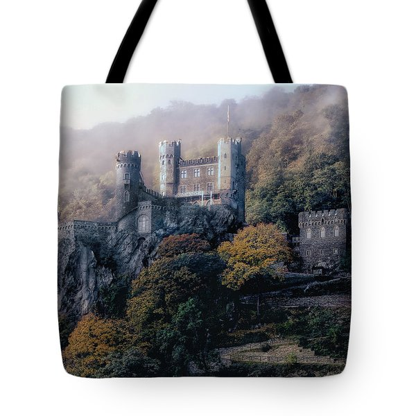 Tote Bag featuring the photograph Castle In The Mist by Jim Hill