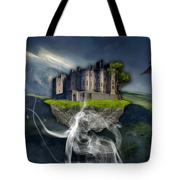 Castle In The Sky Art Tote Bag by Marvin Blaine