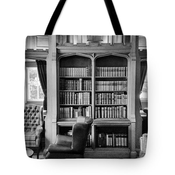 Tote Bag featuring the photograph Castle Library by Christi Kraft