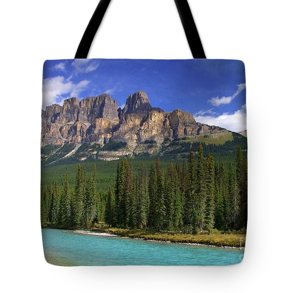 Castle Mountain Banff The Canadian Rockies Tote Bag