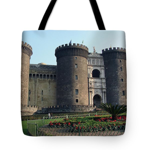 Castle Nuovo Naples Italy Tote Bag