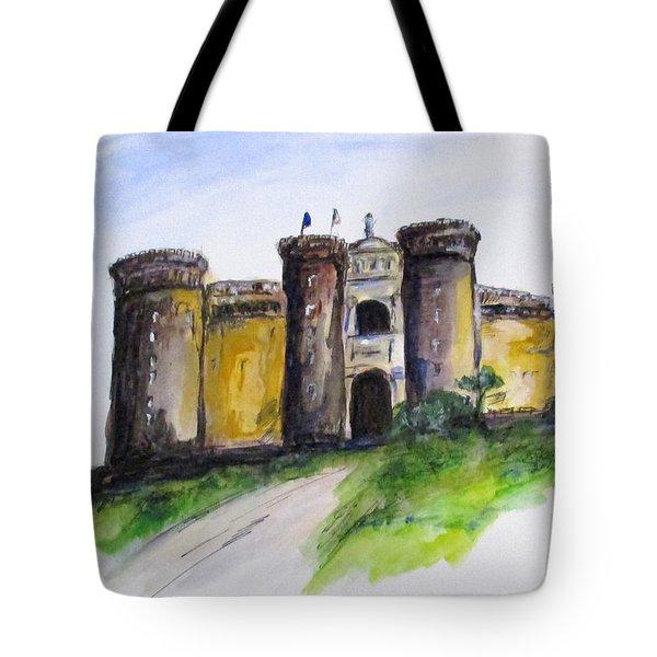 Castle Nuovo, Napoli Tote Bag