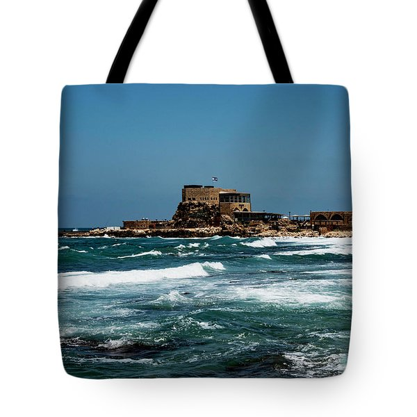 Tote Bag featuring the photograph Castle Of Herod The Great by Mae Wertz