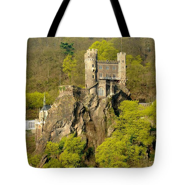Castle On A Rock Tote Bag