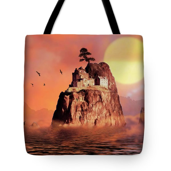 Castle On Seastack Tote Bag