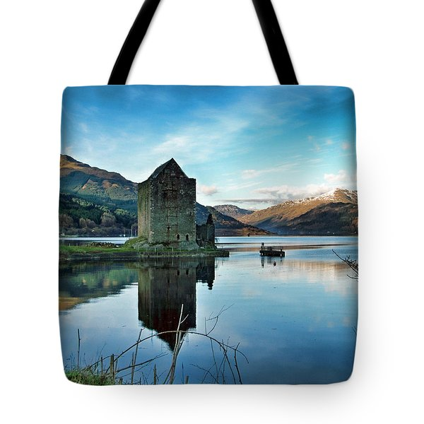 Castle On The Loch Tote Bag by Lynn Bolt