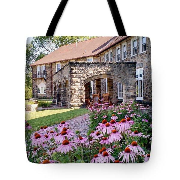 Castle Portico Tote Bag
