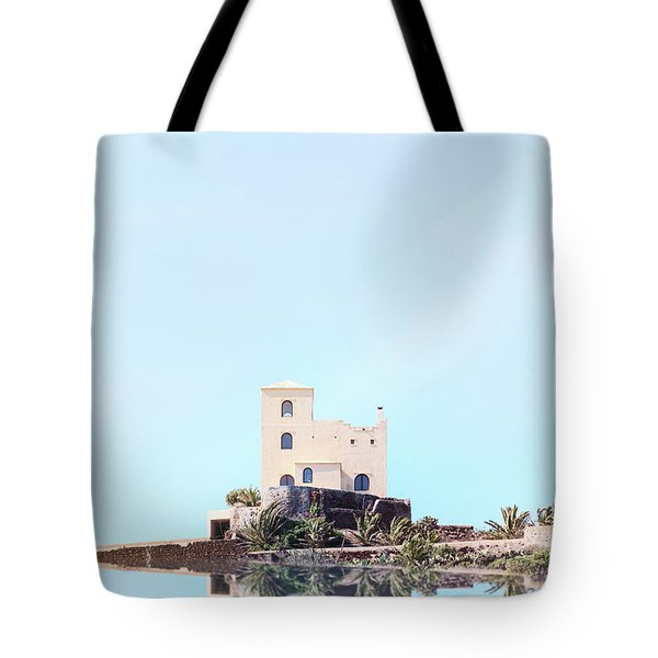 Castle Reflection Tote Bag
