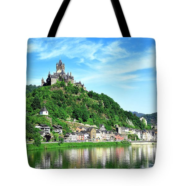 Castle Reichsburg Tote Bag by Don and Bonnie Fink