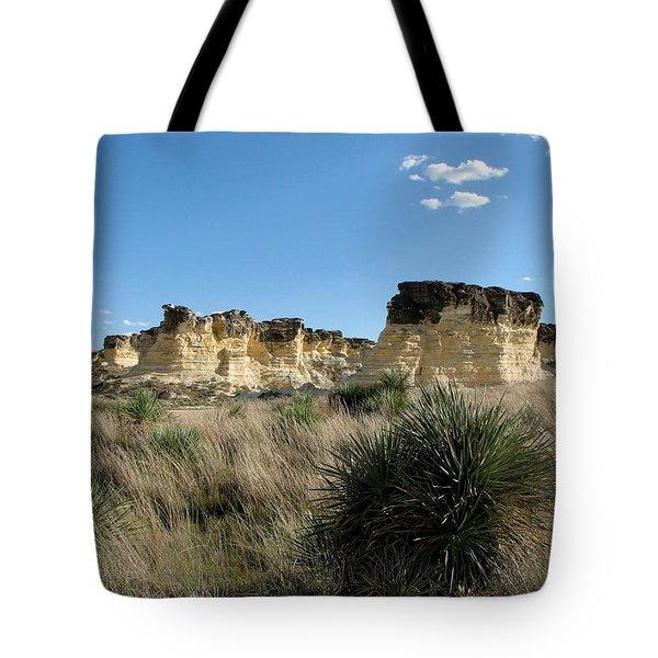 Castle Rock Badlands Tote Bag by Keith Stokes