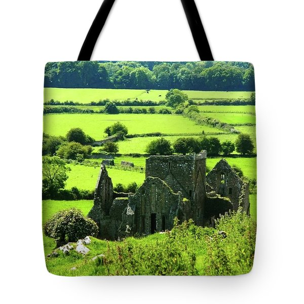 Castle Ruins Countryside Tote Bag