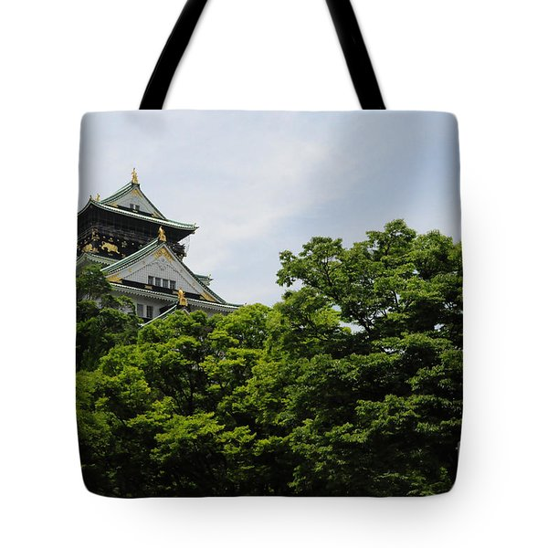 Castle Through The Trees Tote Bag