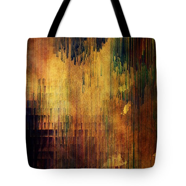 Castle View Planet Pixel Tote Bag