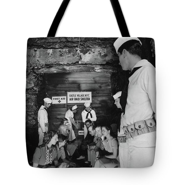 Castle Village Air Raid Shelter Tote Bag by Cole Thompson