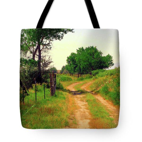 Castledale Farm Road Tote Bag
