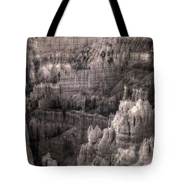 Tote Bag featuring the digital art Castles Made Of Sand In The Hoodoos  by William Fields