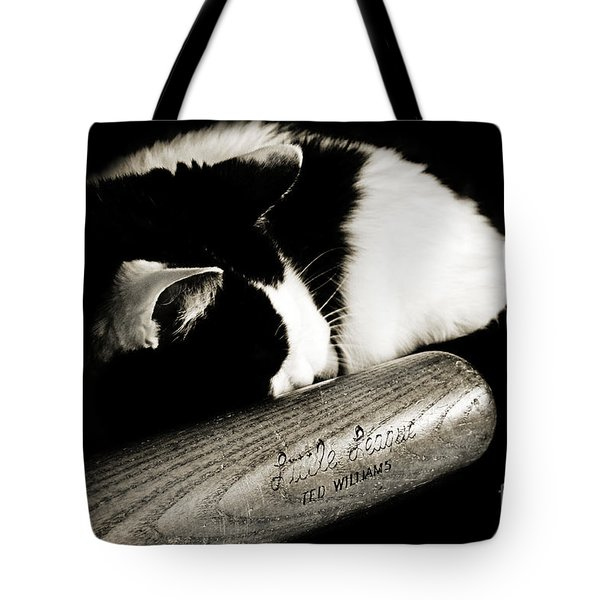 Cat And Bat Tote Bag
