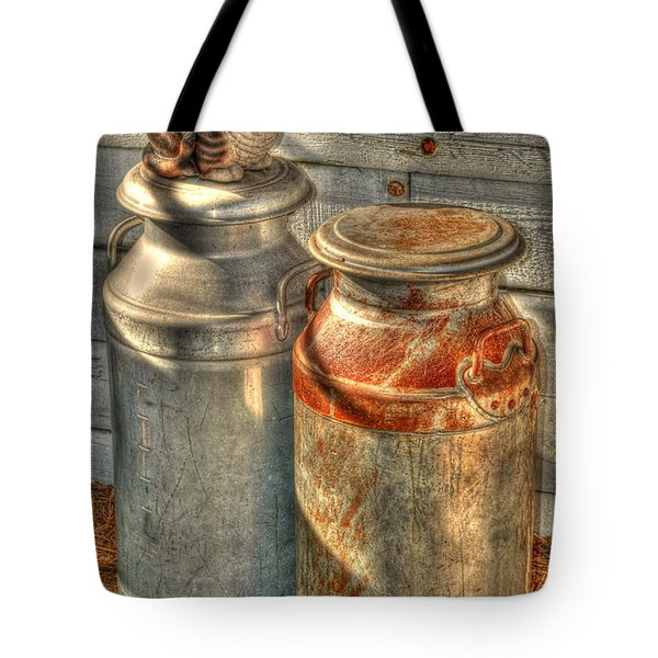 Cat And The Churns Tote Bag