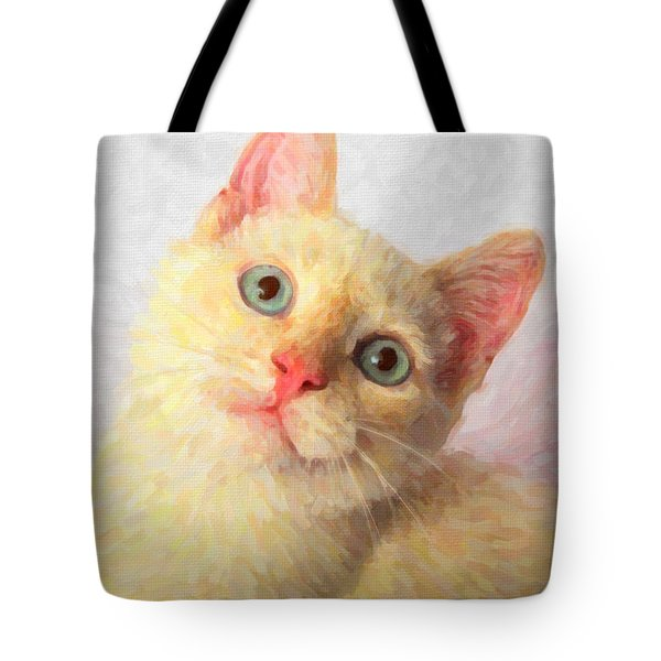 Cat Tote Bag by Andre Faubert