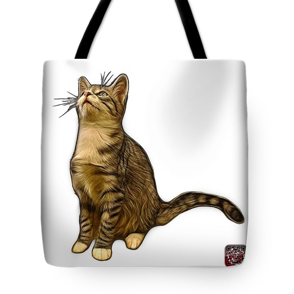 Cat Art - 3771 Wb Tote Bag