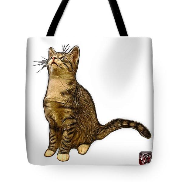 Cat Art - 3771 Wb Tote Bag