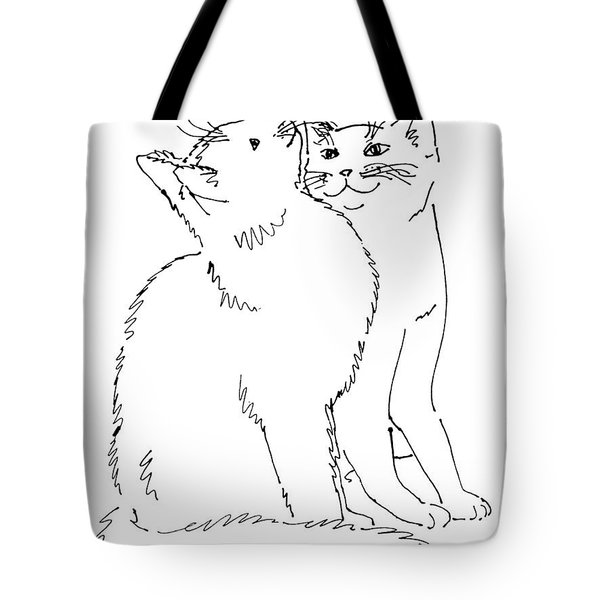 Cat-art-curious Tote Bag