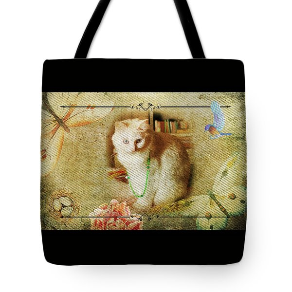 Kitty Cat Composite Art II Tote Bag