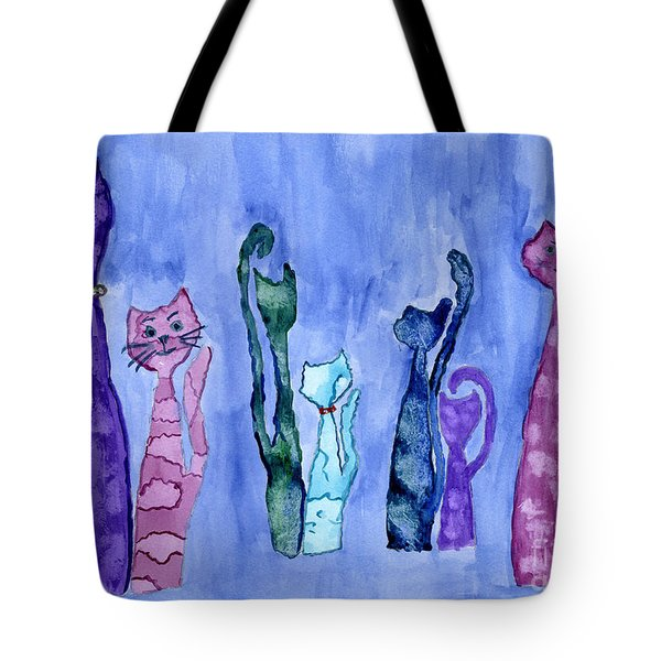 Cat Couples Tote Bag