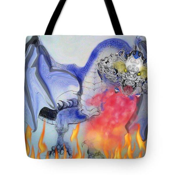 Cat Dragon Tote Bag