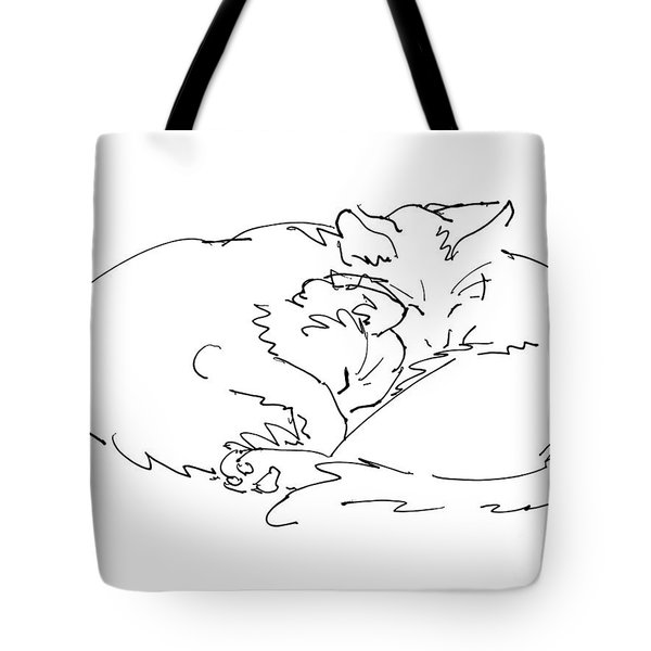 Cat Drawings 2 Tote Bag