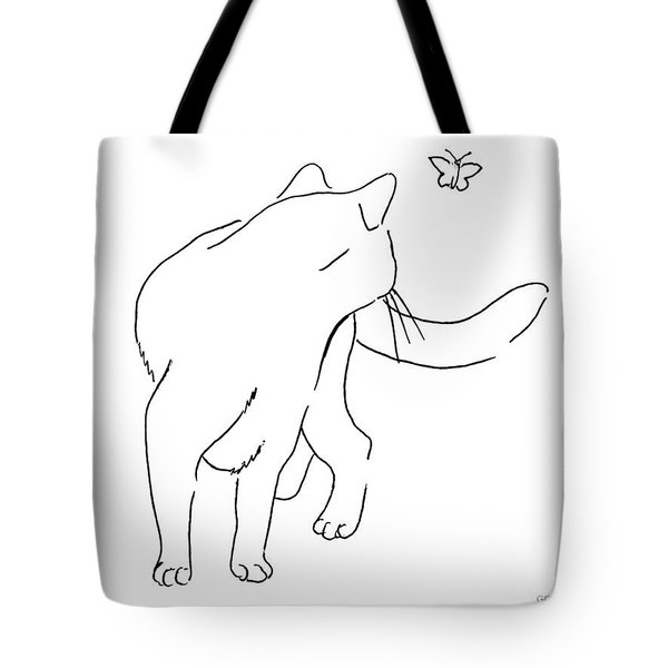 Cat-drawings-black-white-2 Tote Bag