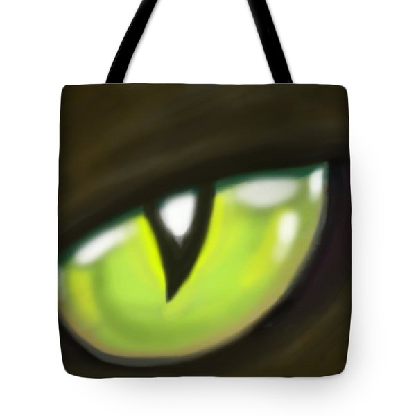 Cat Eye Tote Bag by Kevin Middleton
