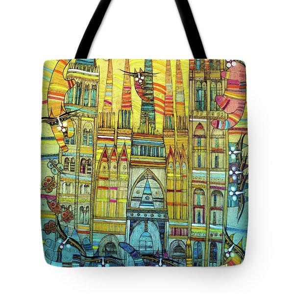 Cat-hedral Tote Bag