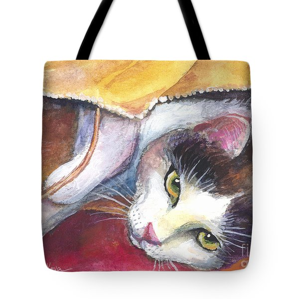 Cat In A Bag Painting Tote Bag