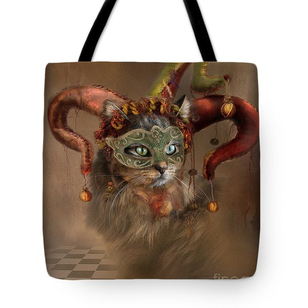 Cat In A Hat Tote Bag by Kathy Russell
