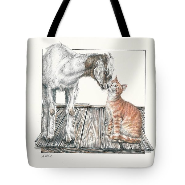 Cat Kiss Tote Bag
