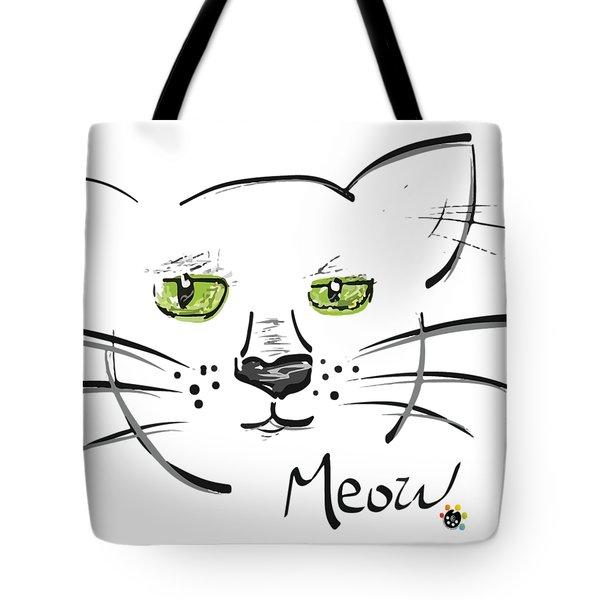 Cat Meow Tote Bag