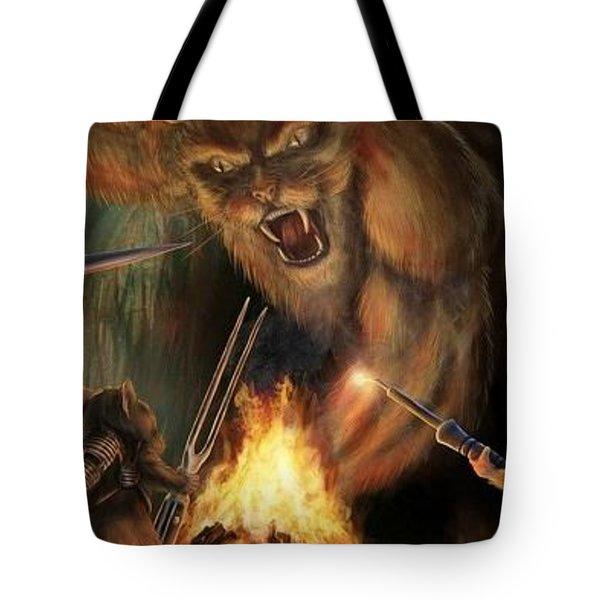 Cat Mouse Bonfire Weapon Forest 65366 300x450 Tote Bag