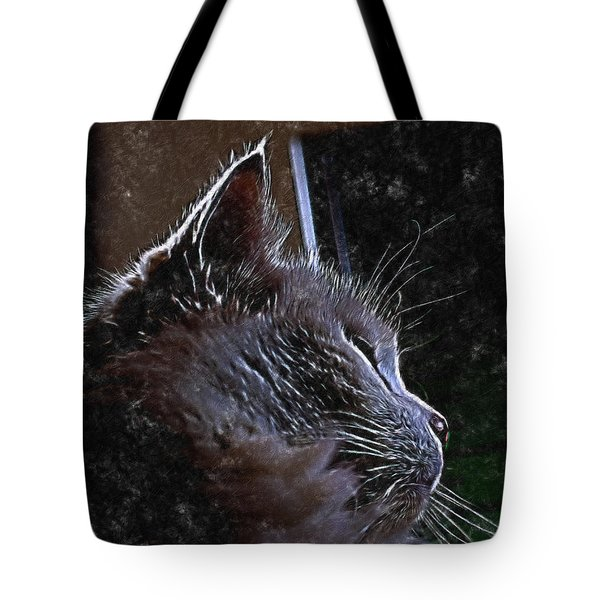 Cat Muse Tote Bag by Aliceann Carlton