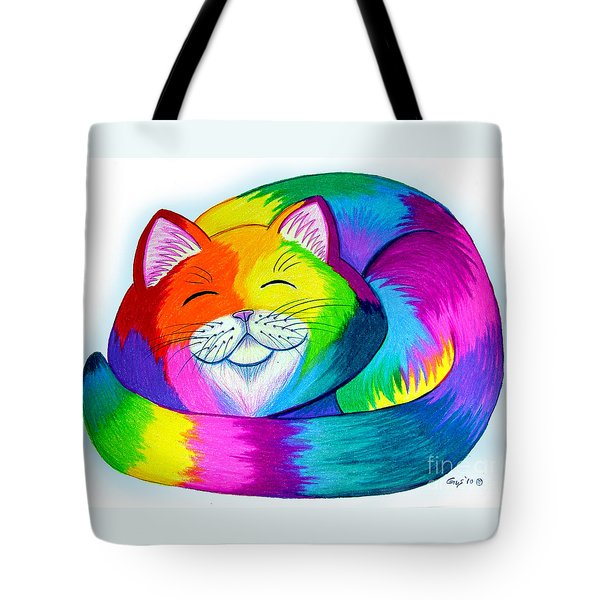 Cat Napping Tote Bag by Nick Gustafson
