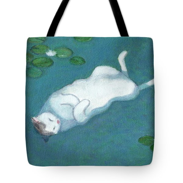 Cat On Vacation Tote Bag