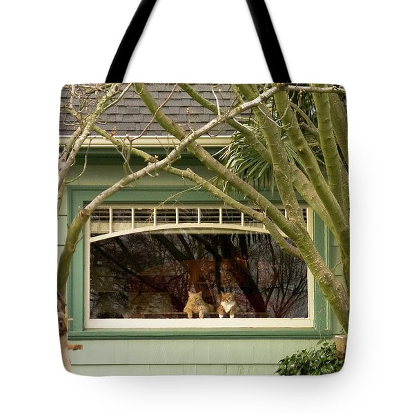 Cat Pals Waiting Tote Bag