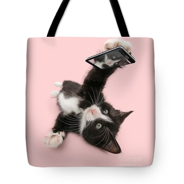Cat Selfie Tote Bag